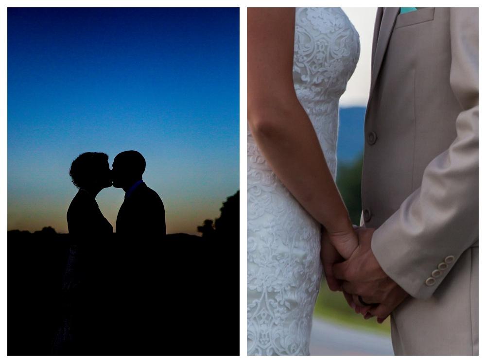 Maine Wedding Photographer Sunset Portraits silhouette
