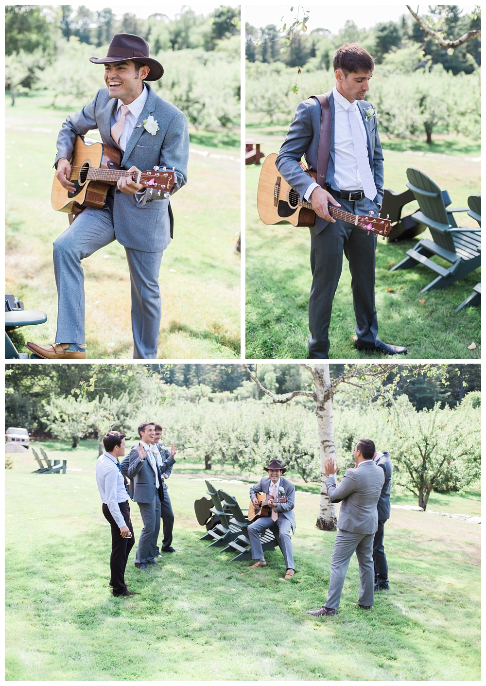 Maine Wedding Photography Midcoast Guitar Groom