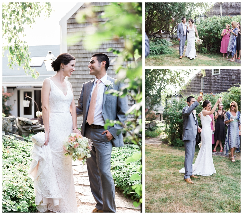 Maine Wedding Photographer Clark's Cove Farm & Inn Announcing Mr and Mrs