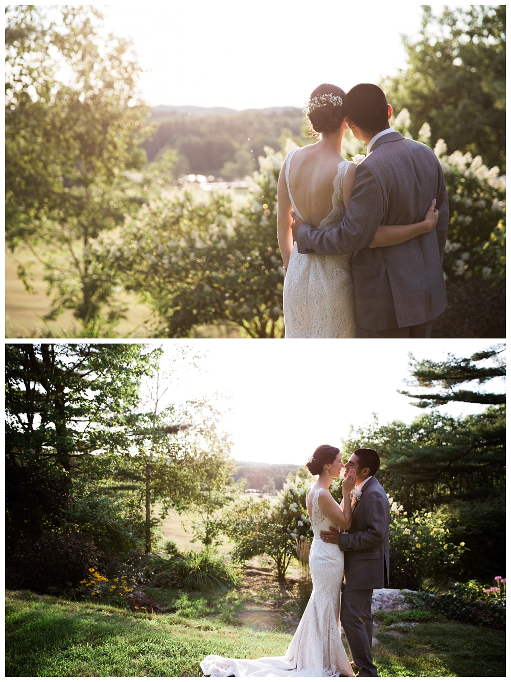 Maine Wedding Photographer Clark's Cove Farm & Inn Bride and Groom at Dusk