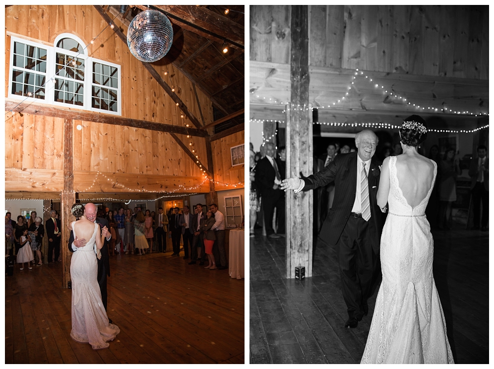 Maine Wedding Photographer Clark's Cove Farm & Inn father daughter dance barn wedding