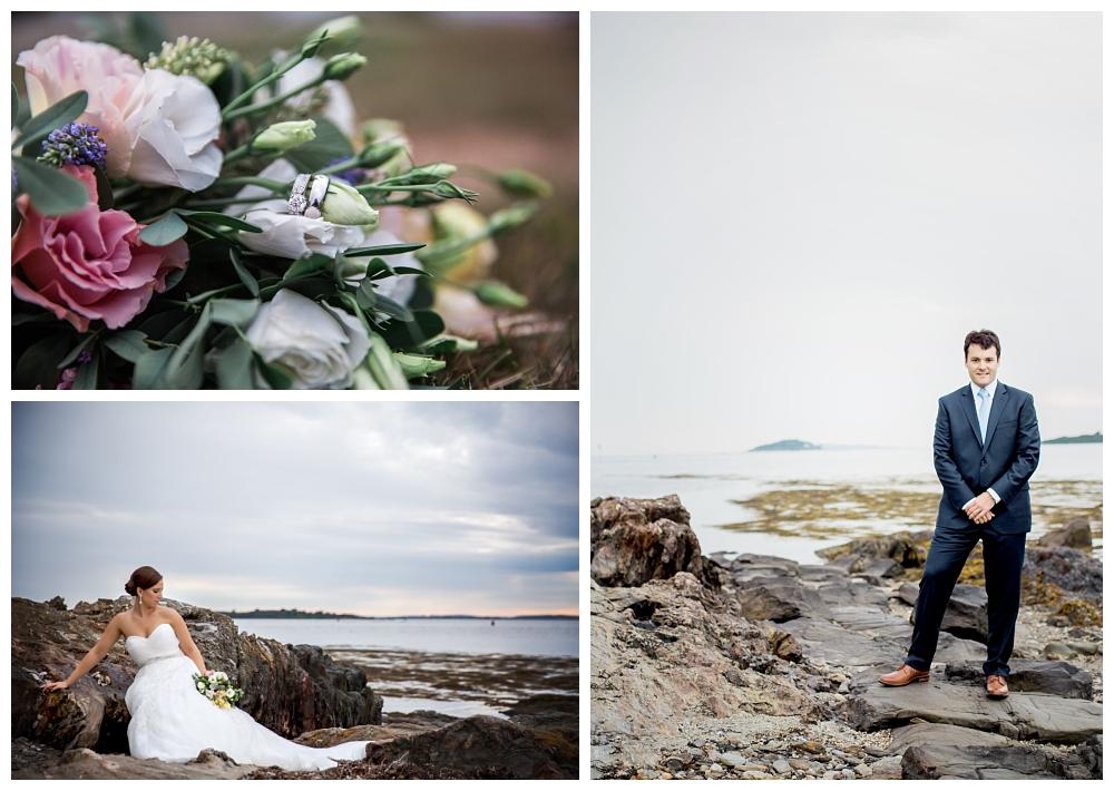 Maine Wedding Photographer Bridal Portraits Bouquet