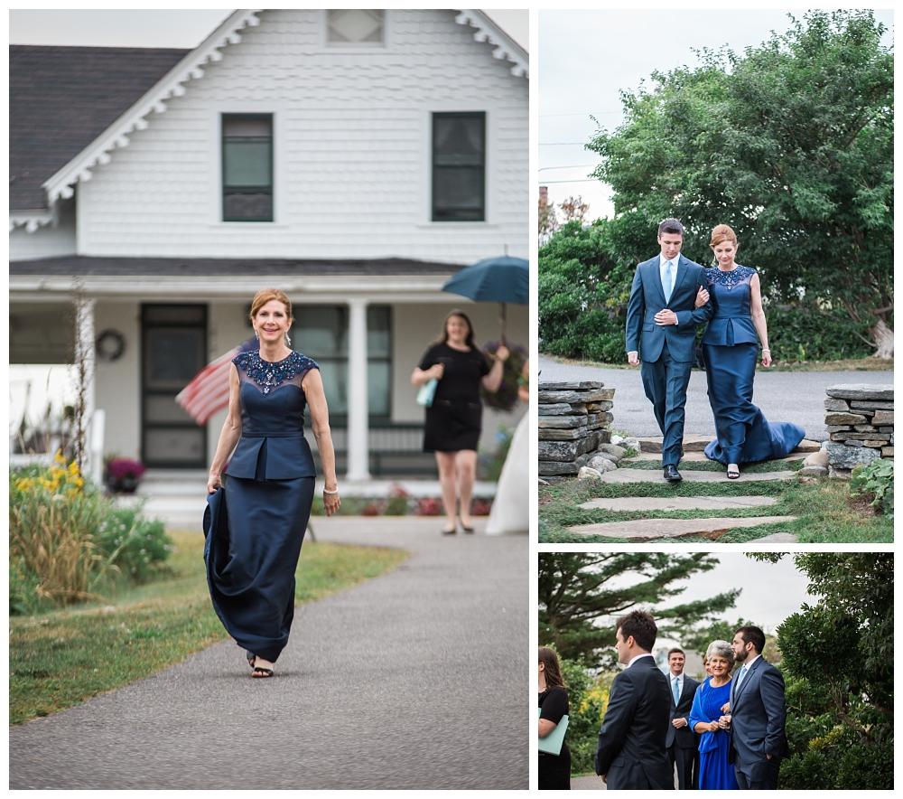 Maine Wedding Photographer Ceremony Harpswell Rainy Day