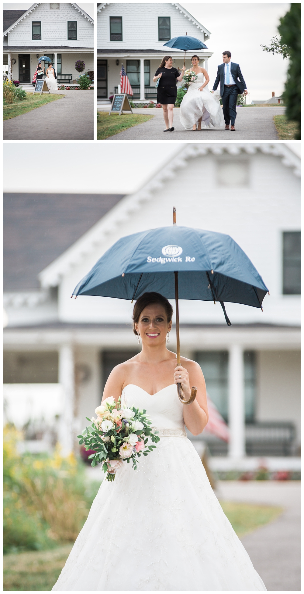 Maine Wedding Photographer Harpswell Ceremony Rainy Day