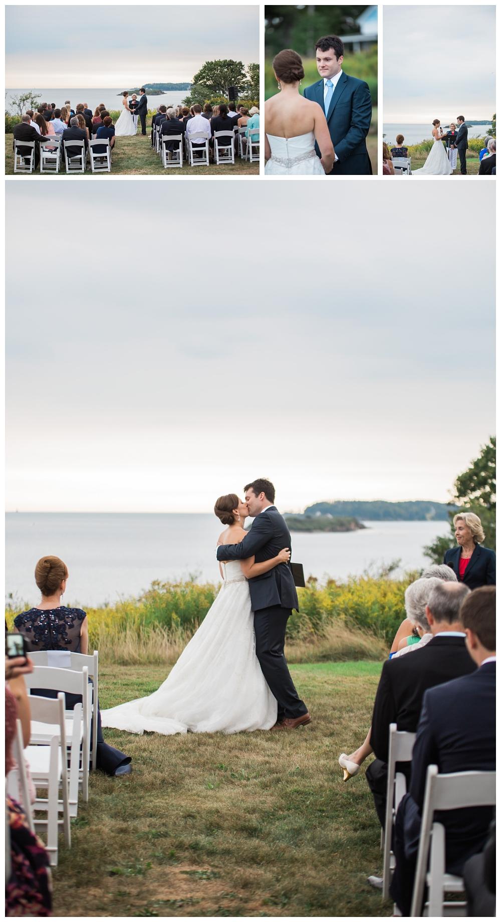 Maine Wedding Photographer Harpswell Ceremony I do