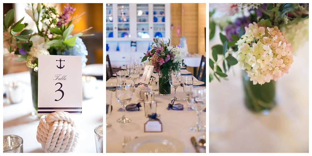 Maine Wedding Photographer Harpswell Tablescapes Decor Nautical