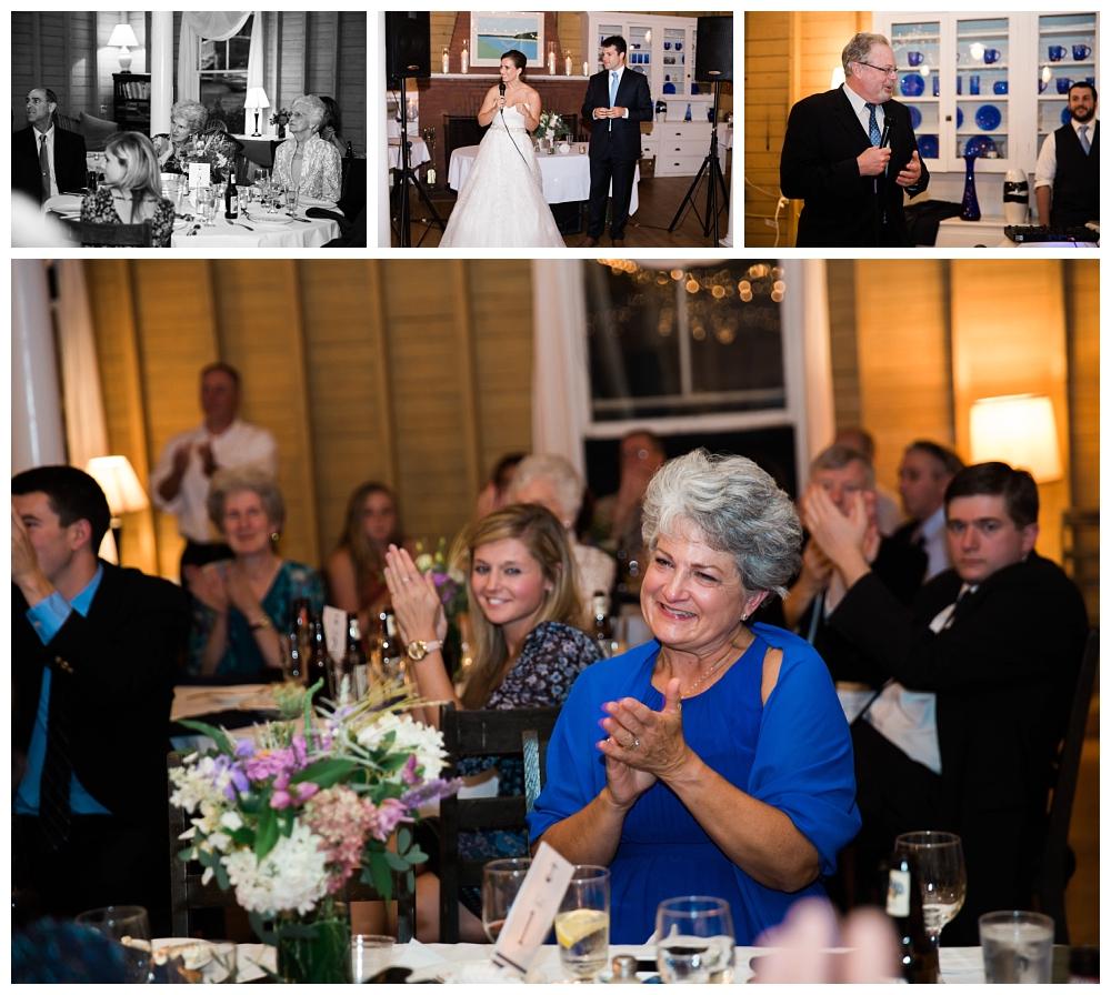 Maine Wedding Photographer Harpswell Reception Speeches