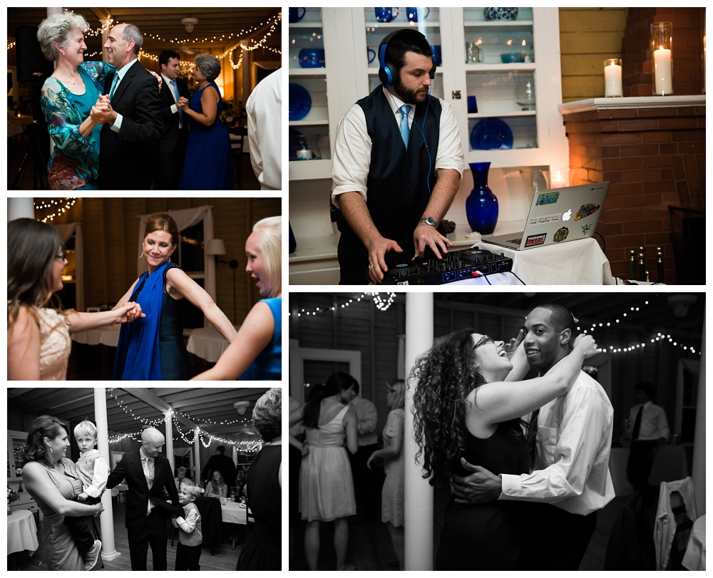 Maine Wedding Photographer Harpswell Reception Dancing