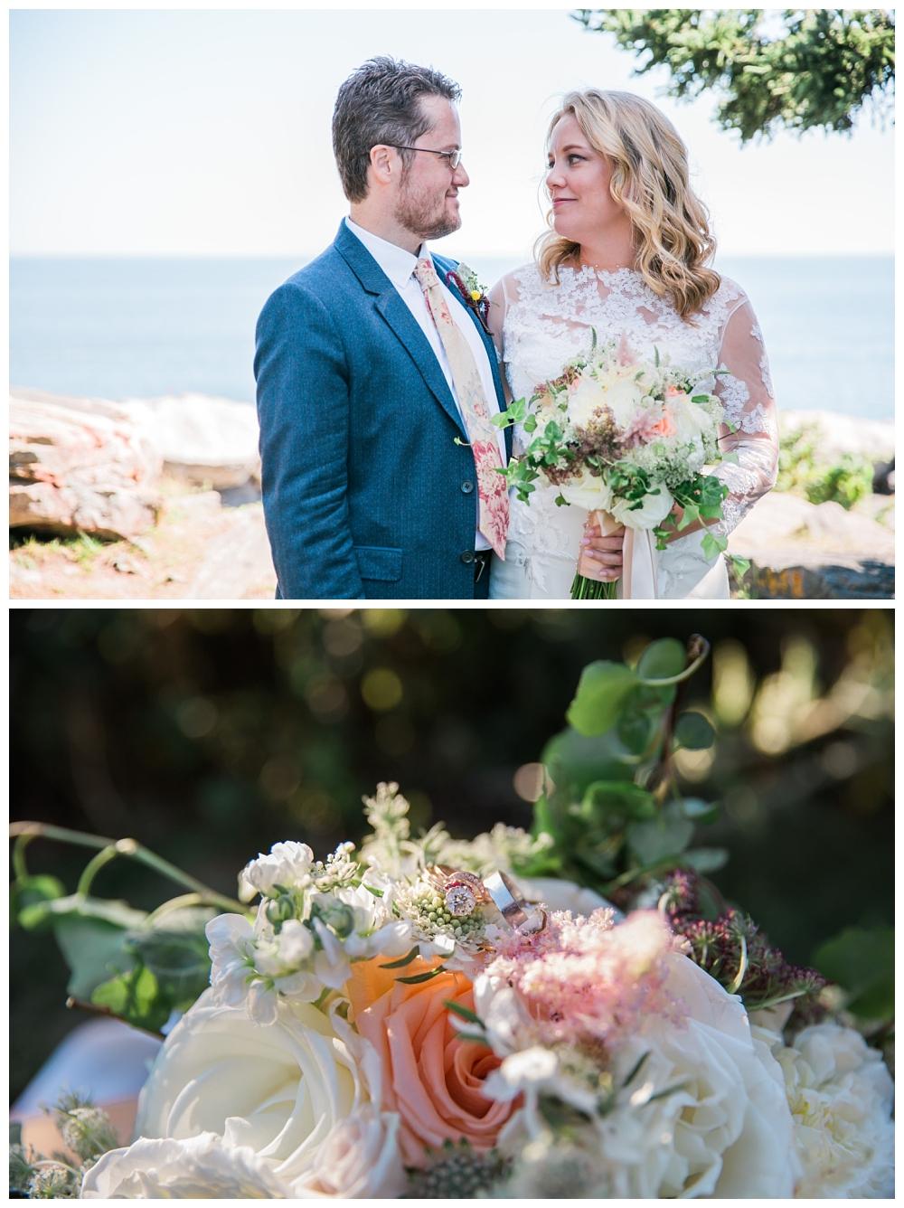 Maine Wedding Photographer Pemaquid Point Lighthouse Bridal Portrait