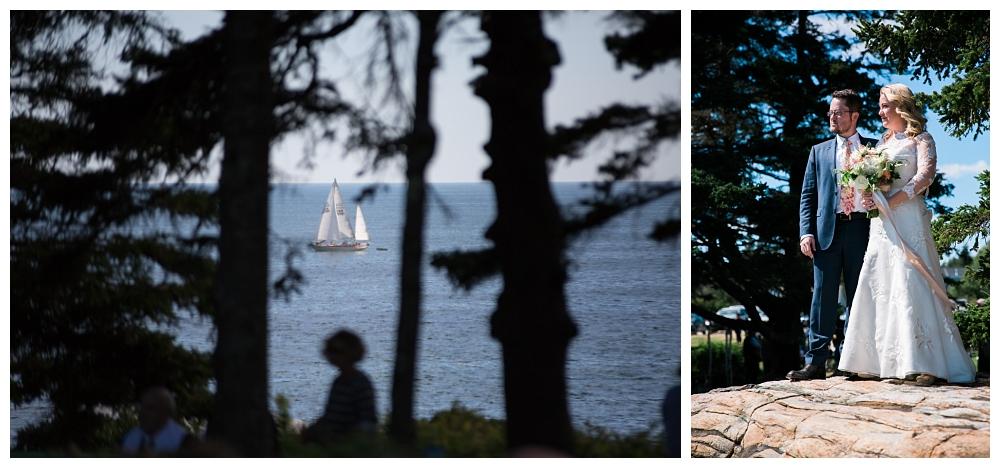 Maine Wedding Photographer Pemaquid Point Lighthouse Bridal Portraits