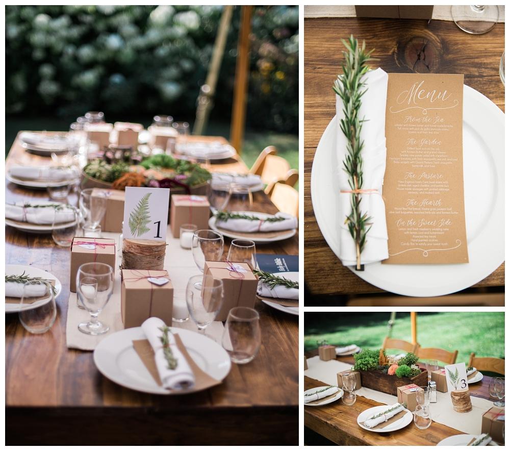 Maine Wedding Photographer The Bradley Inn New Harbor Reception tablescapes settings