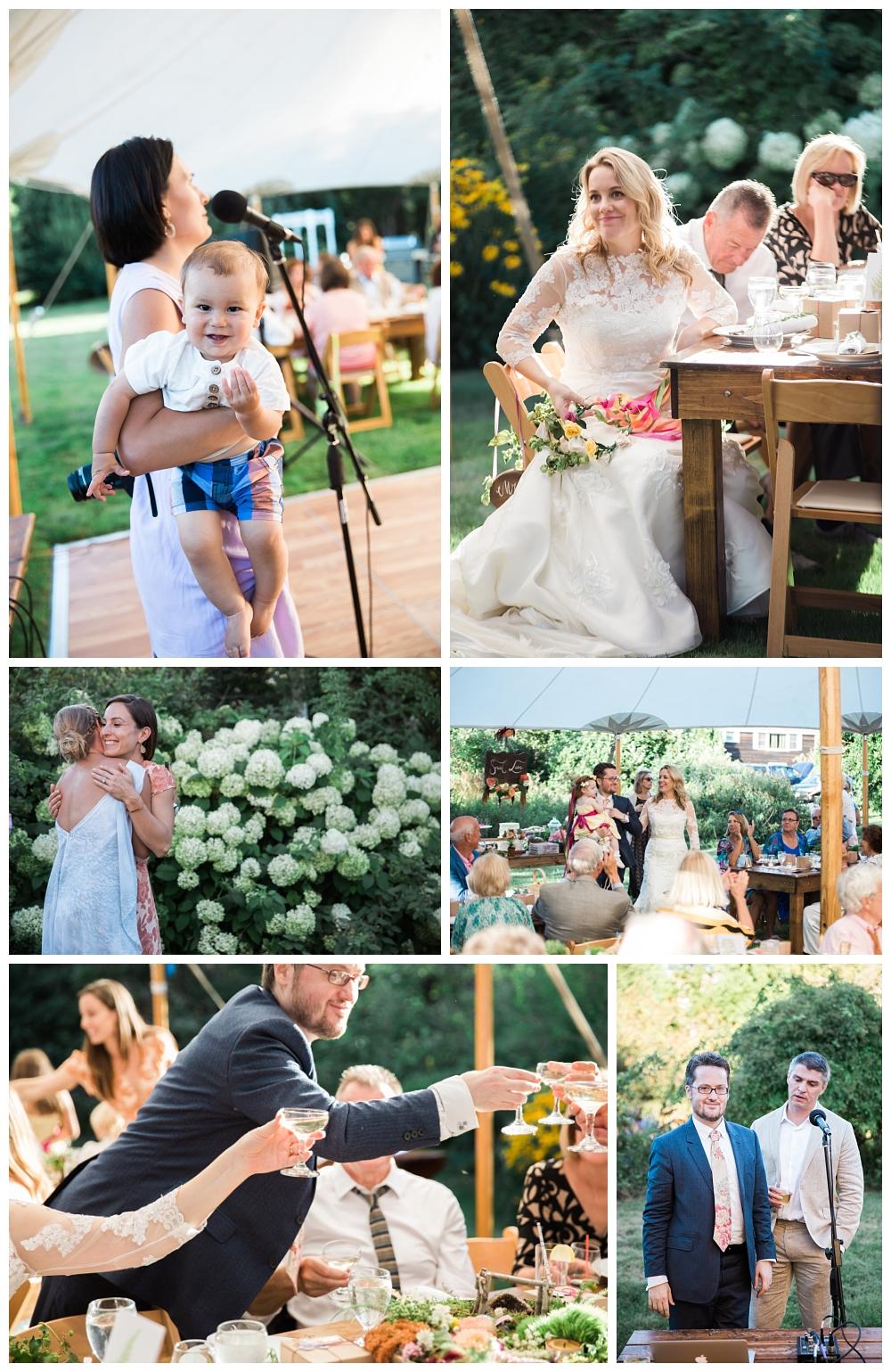 Maine Wedding Photographer The Bradley Inn New Harbor Reception speeches