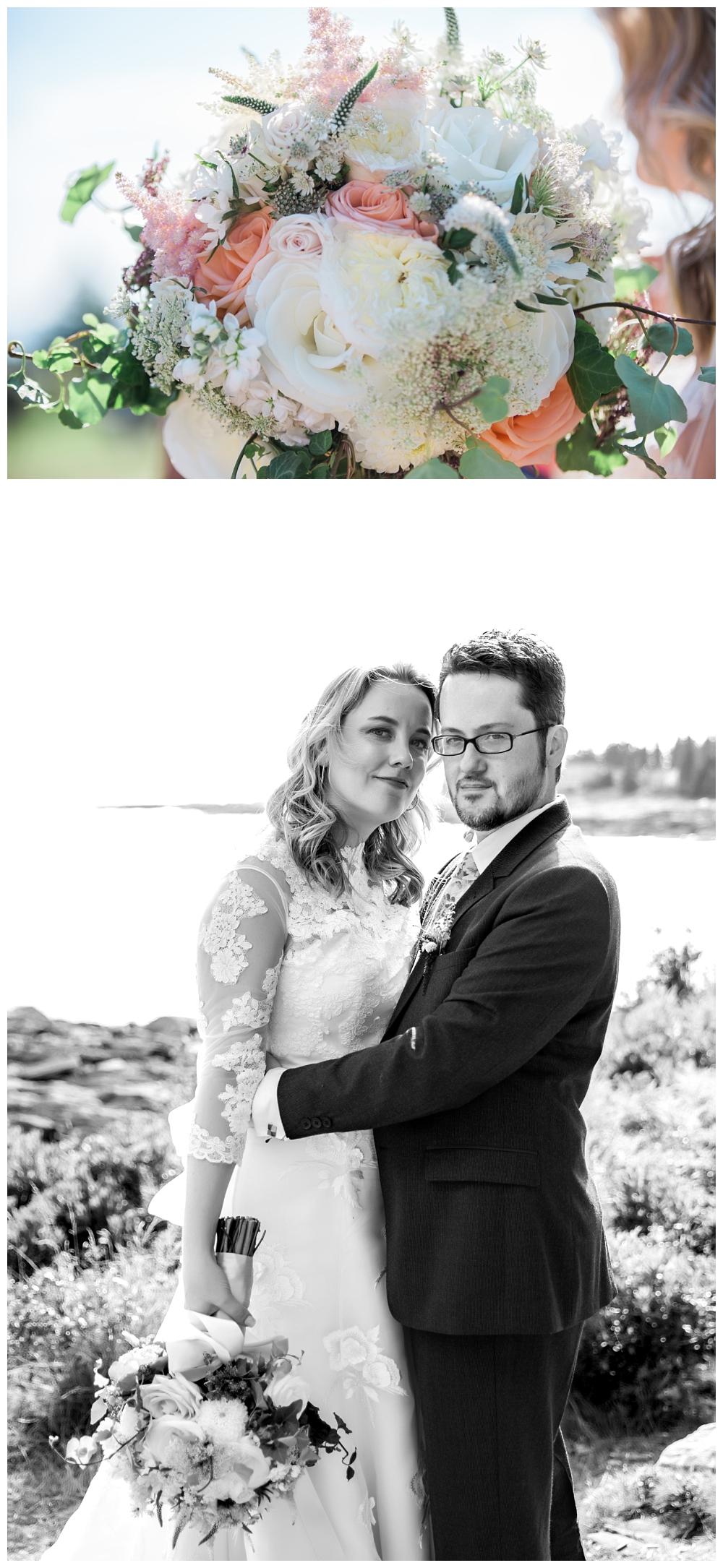 Maine Wedding Photographer Pemaquid Point Lighthouse bouquet