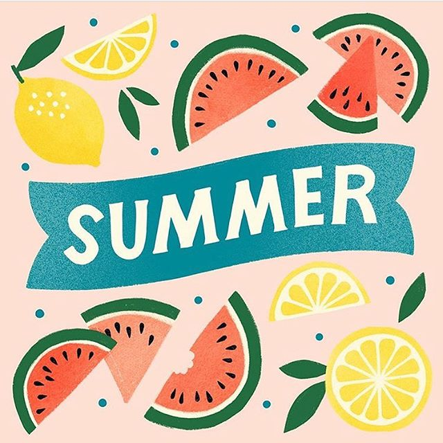 Summer = all the fruit. I accidentally bought $25 worth of cherries this week at whole foods and had to return them, but I wish I still had them 🍉🍋🍒🍓🍑 illustration for @hallmark