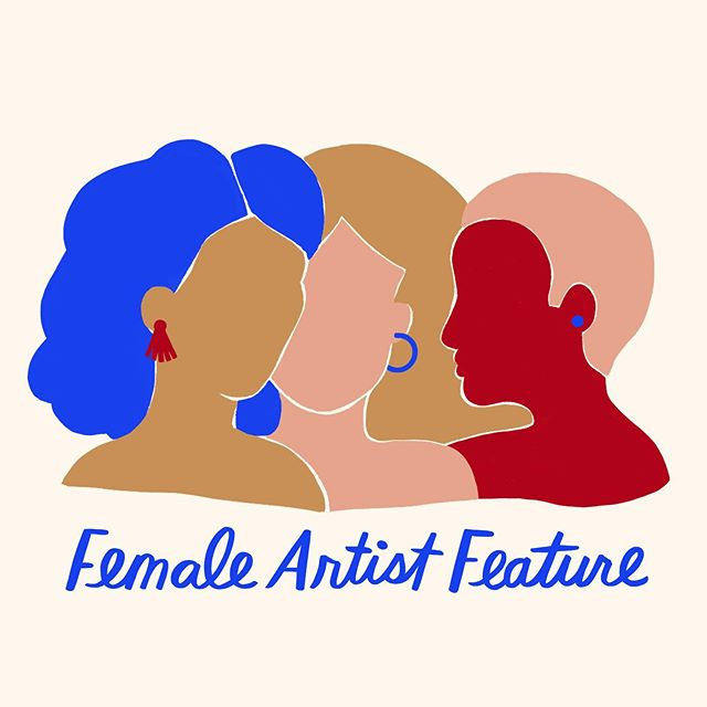 So excited about the launch of @femaleartistfeature ❤️💖💙 Happy to be a small part of it with this illustration!