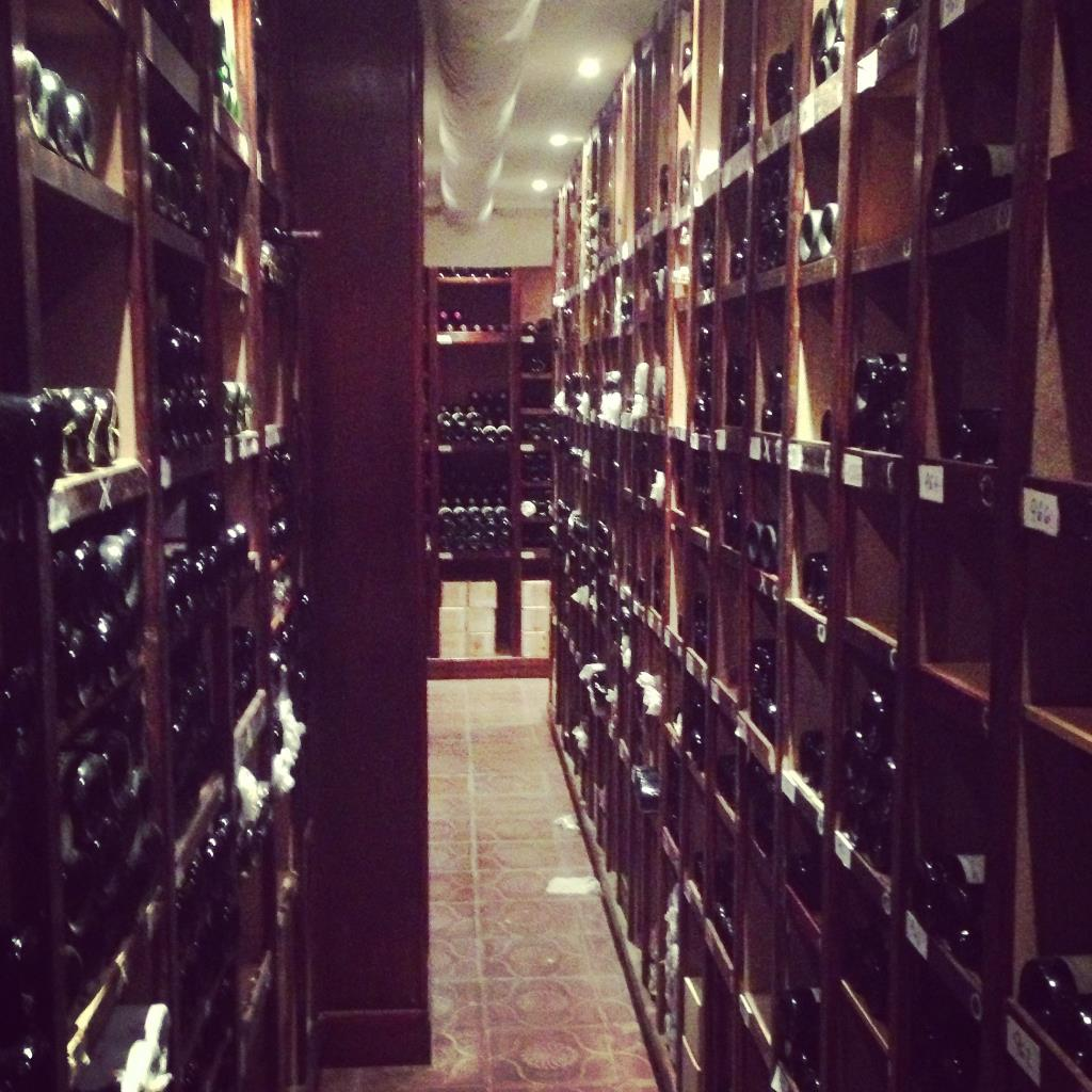Most impressive wine cellar I've ever seen - 1000+ bottles going back to 1920's...