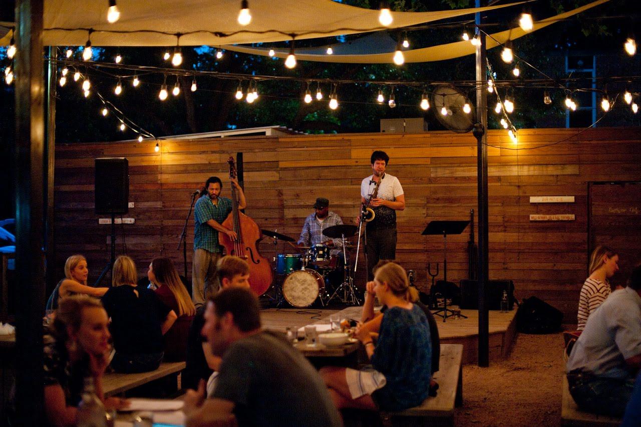 At Presidio Restaurant with the Seth White Nostalgia Jazz Trio.