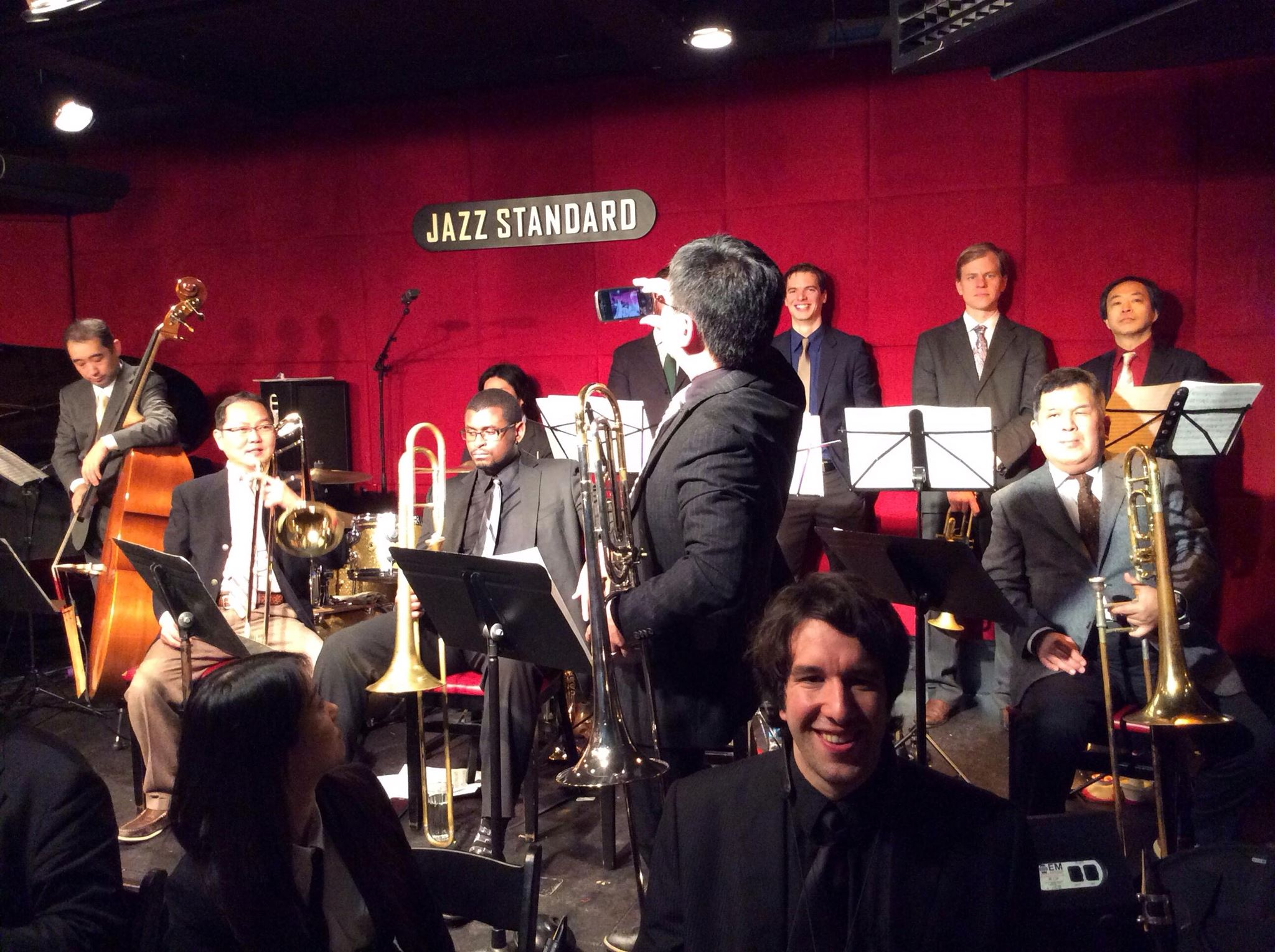 At the Jazz Standard with Tokyo Swings Big Band.