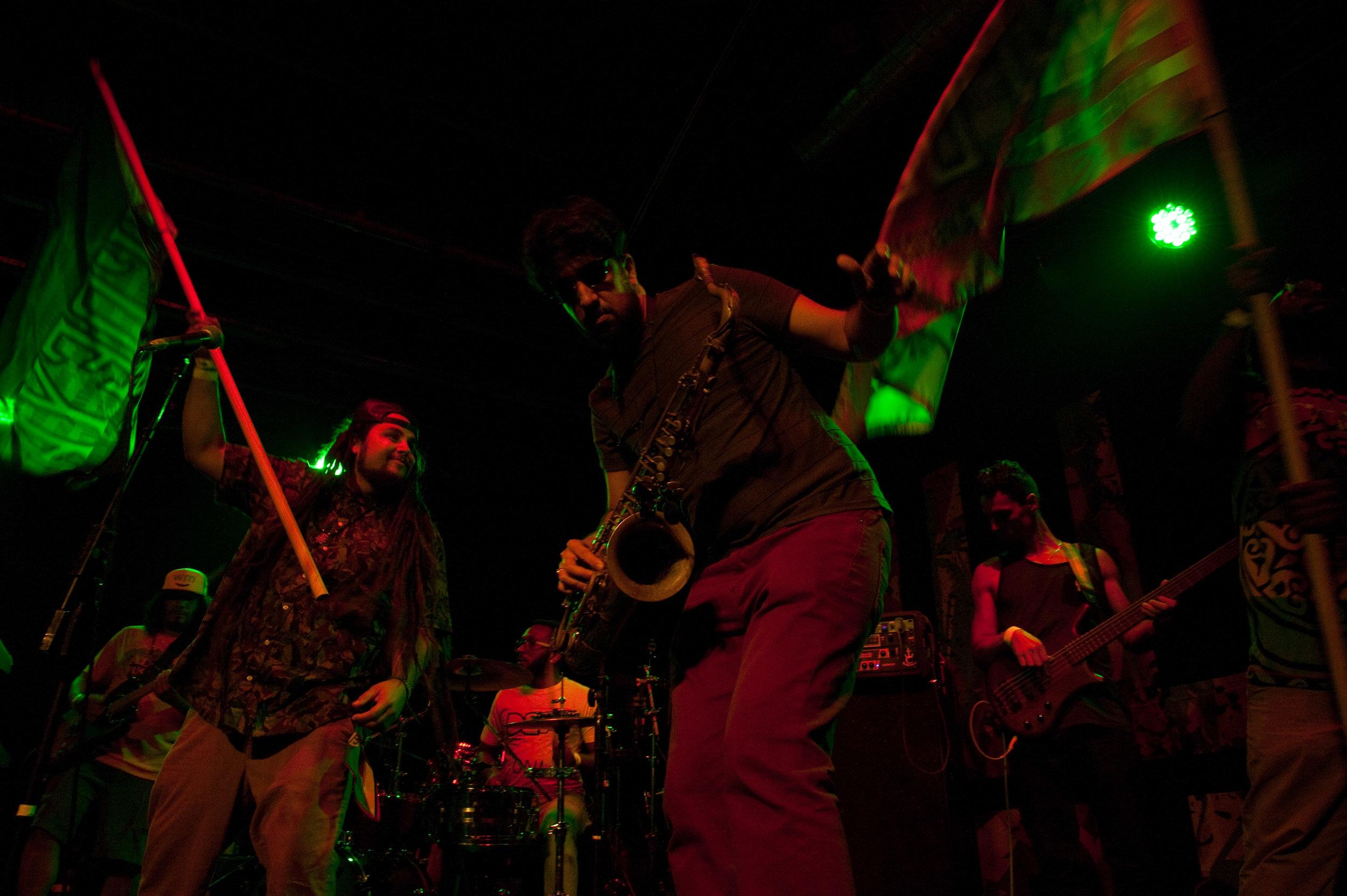 With reggae all-star band Wi'Deya at Warehouse Live.