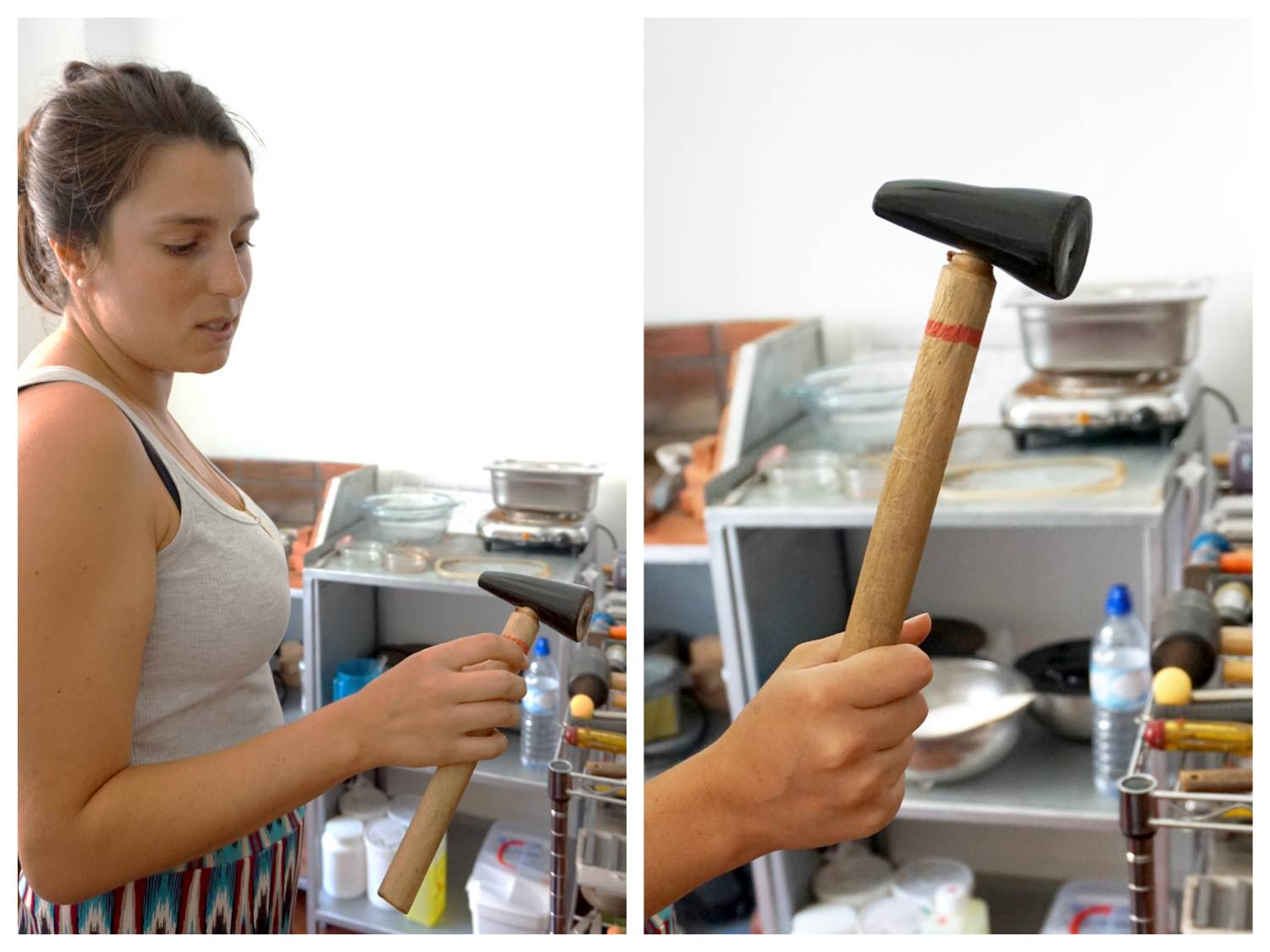 I think that she also likes the hammer...
