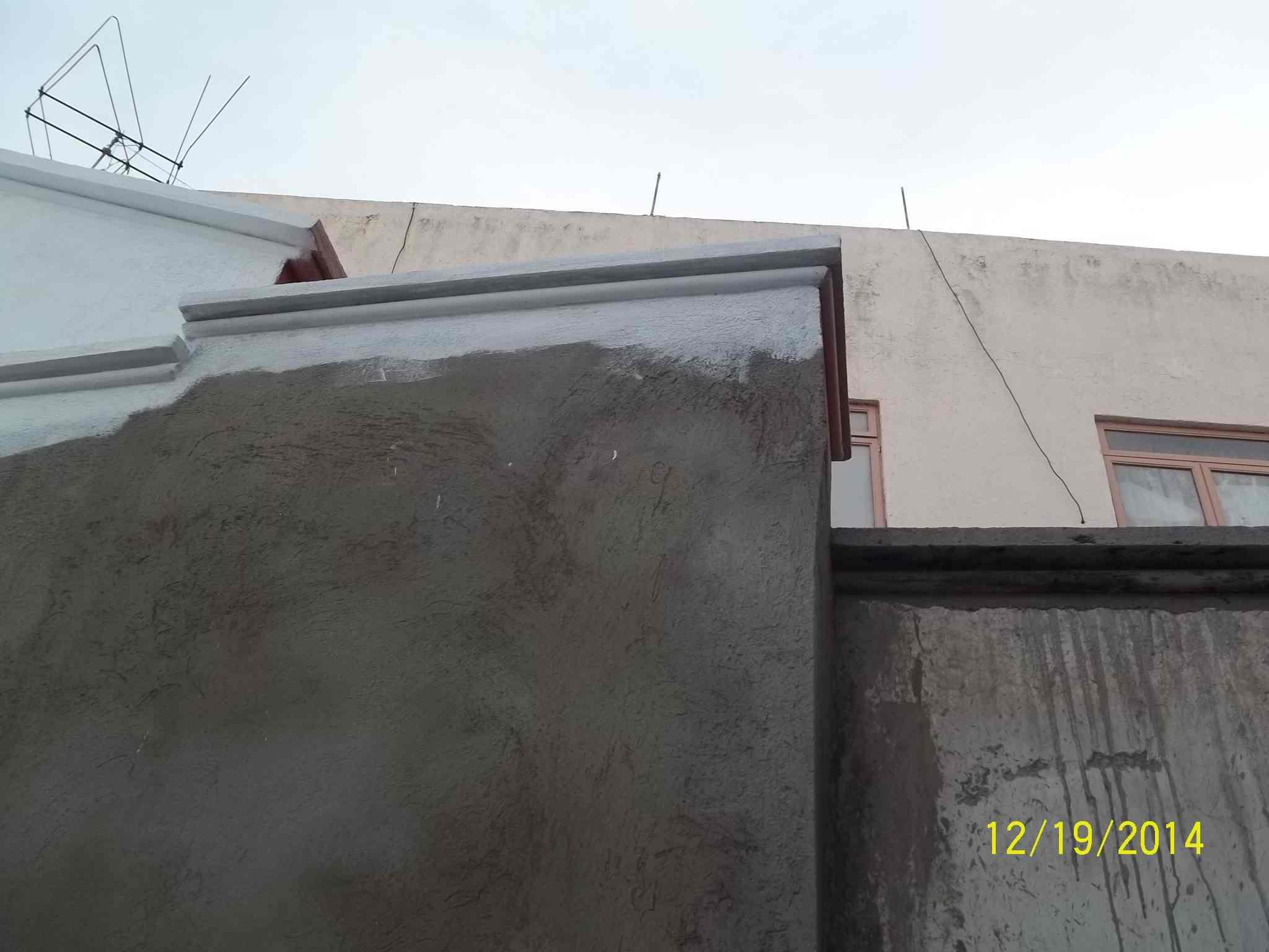 Muro posterior después de implementar el protocolo de restauración del INAH.