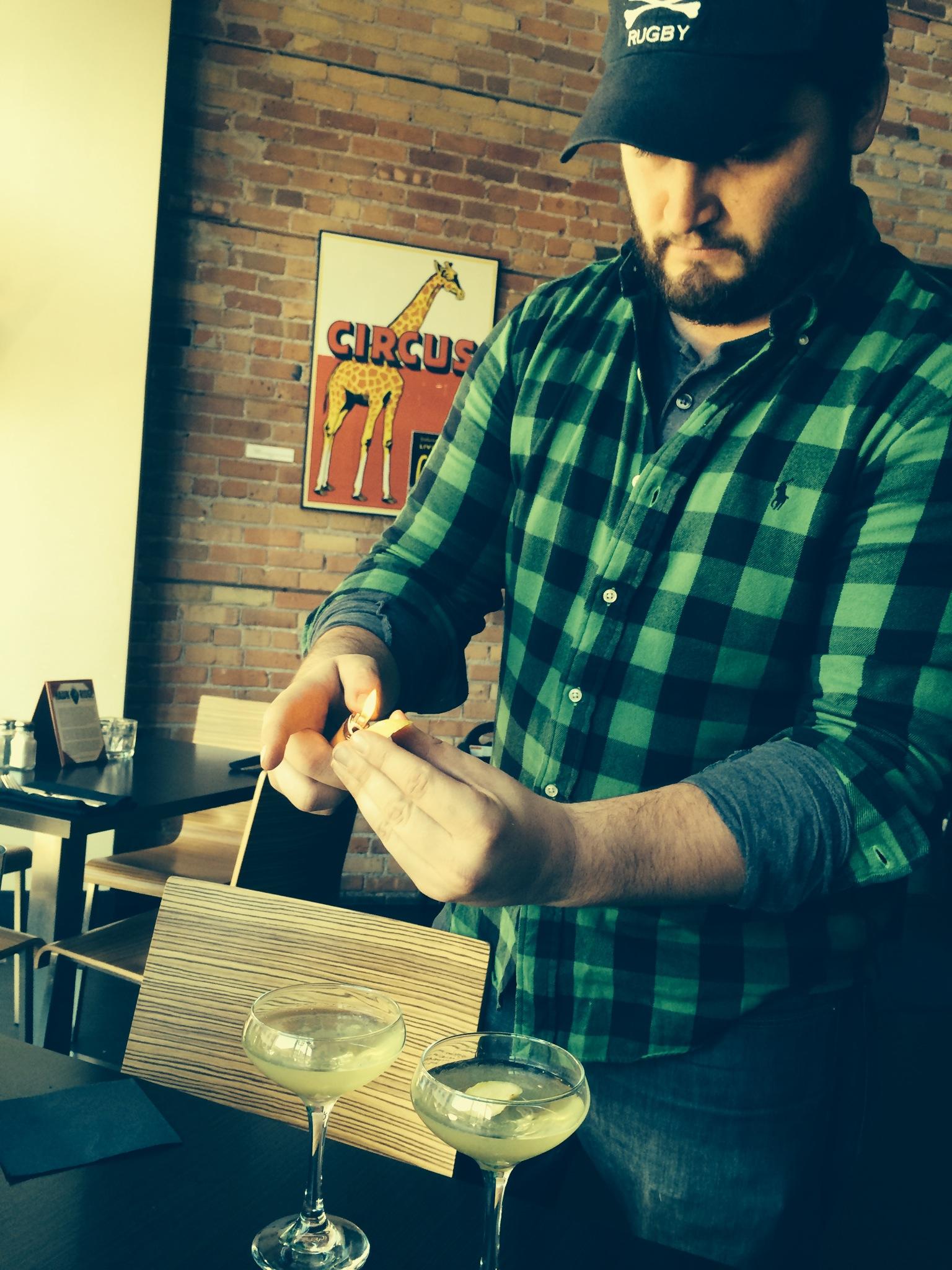 Matt at Zeitgeist Arts Cafe in Duluth