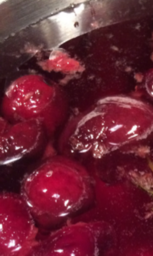 Cherries in simple syrup