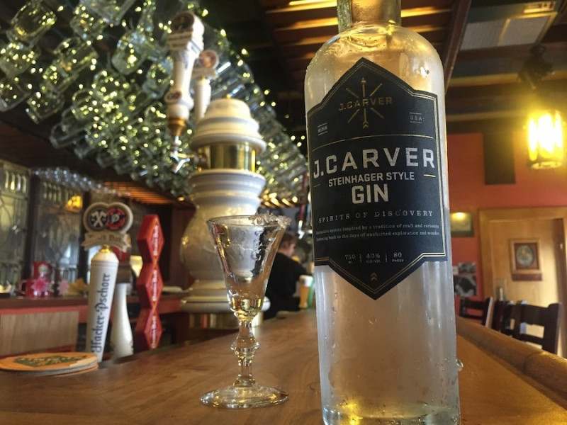 J. Carver Steinhager-style Gin at Black Forest Inn Photo by Jason DeRusha