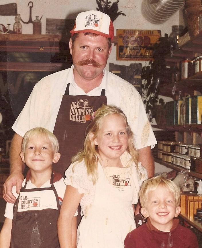 From left to right: Matthew, Norm, Elizabeth and Willie 1983