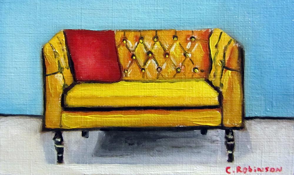 Goldenrod Sofa