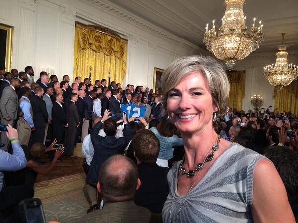 Whitehouse with President and Seahawks