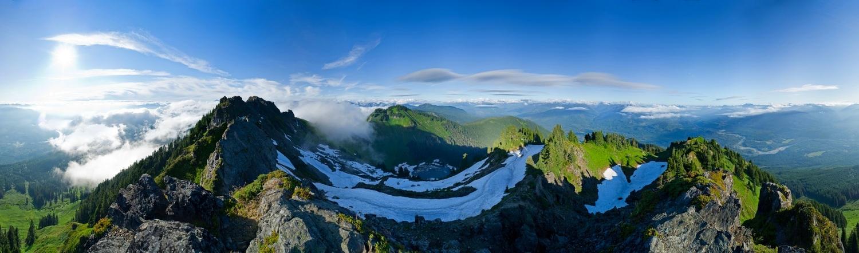Sauk Mountain Panorama. North Cascades, Washington.