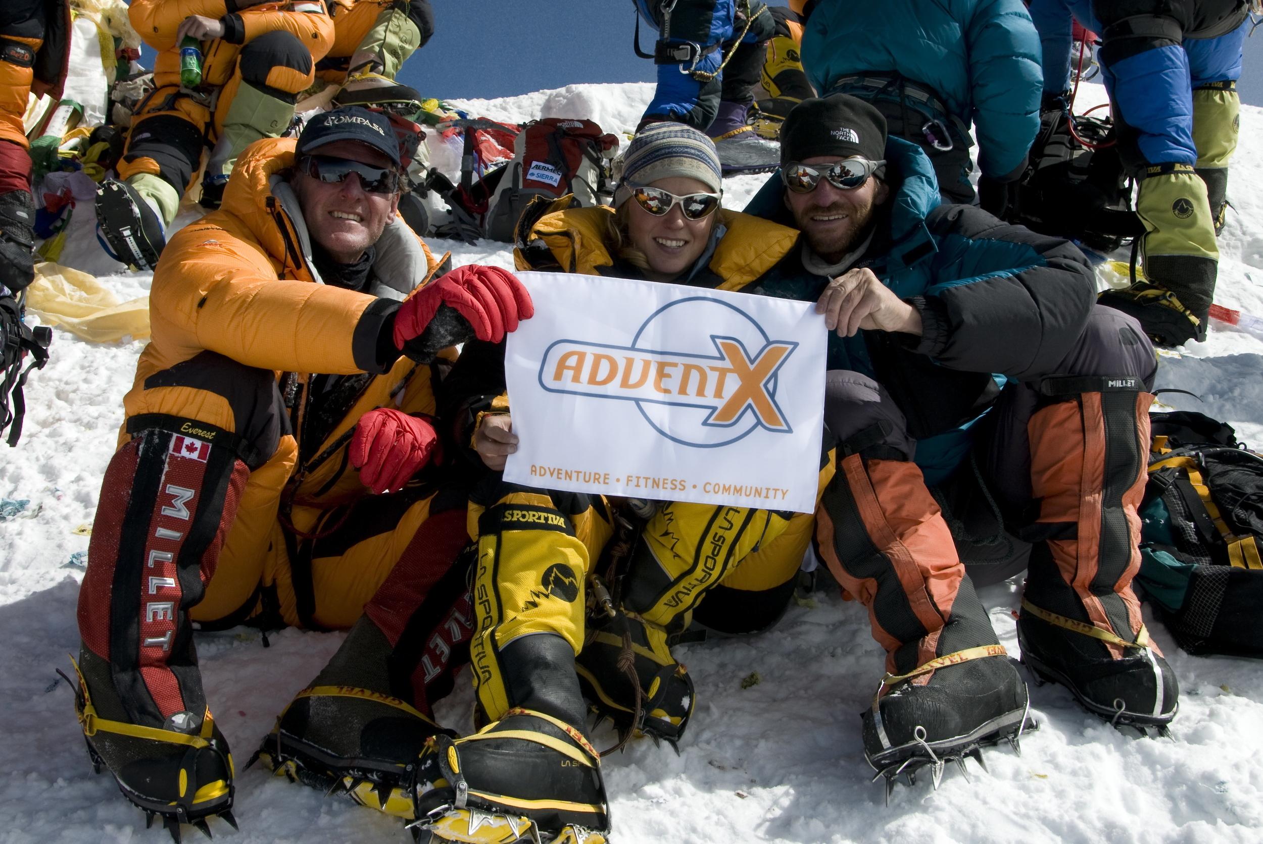 Jeff Dossett on Summit of Mount Everest. May 2005