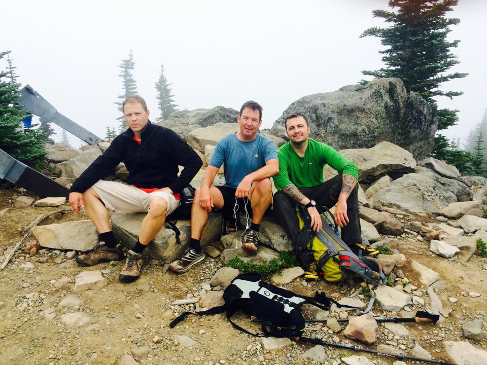 Top of Defiance Mountain. That was long. And where'd the sun go? And Yeah we're getting a bit tired!