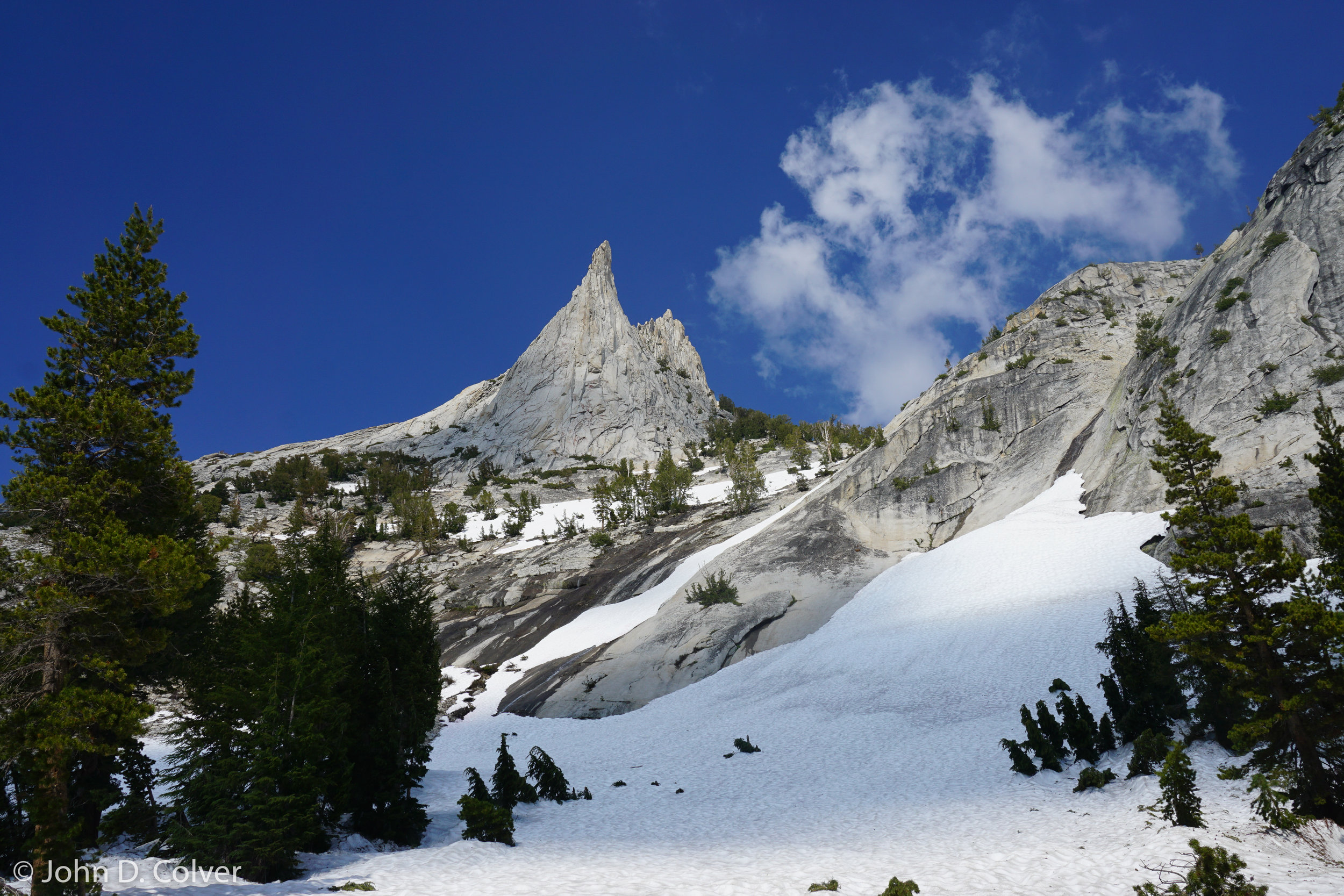 """Cathedral Peak, Sierra Nevada. June 2018    Price $500    Available in image sizes up to 38x30"""""""
