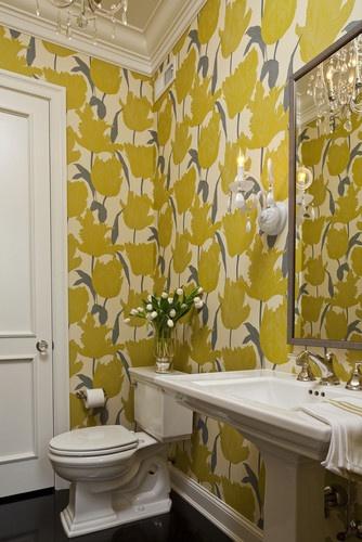 This bathroom screams SPRING!!