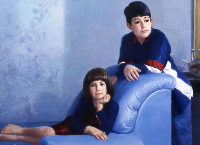 Brother and Sister in Blue