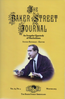 The Winter 2013 issue of the Baker Street Journal with actor Herbert Kelcey