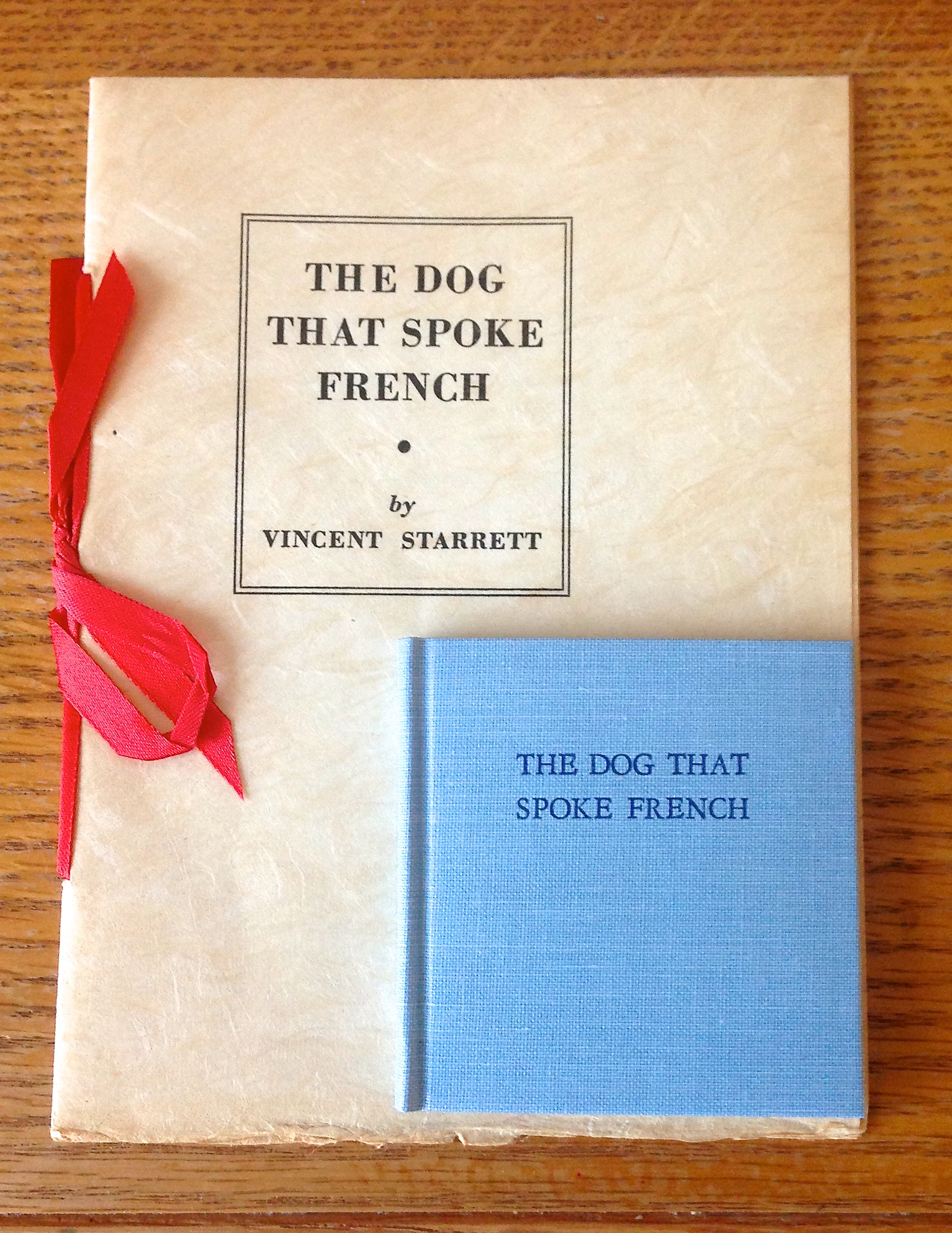 Separated by about 48 years, these two editions of  The Dog That Spoke French  prove that a naughty joke never goes out of style.