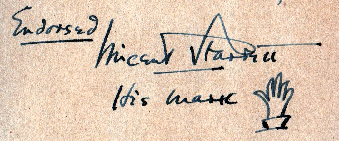 A Starrett inscription from the book  Chicago Murders.  More about this in a future post.