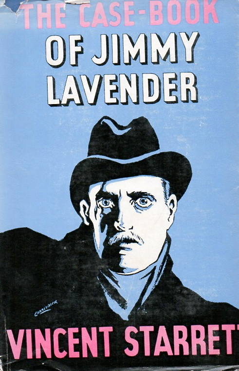 The dust jacket cover for The Case-Book of Jimmy (sic) Lavender)