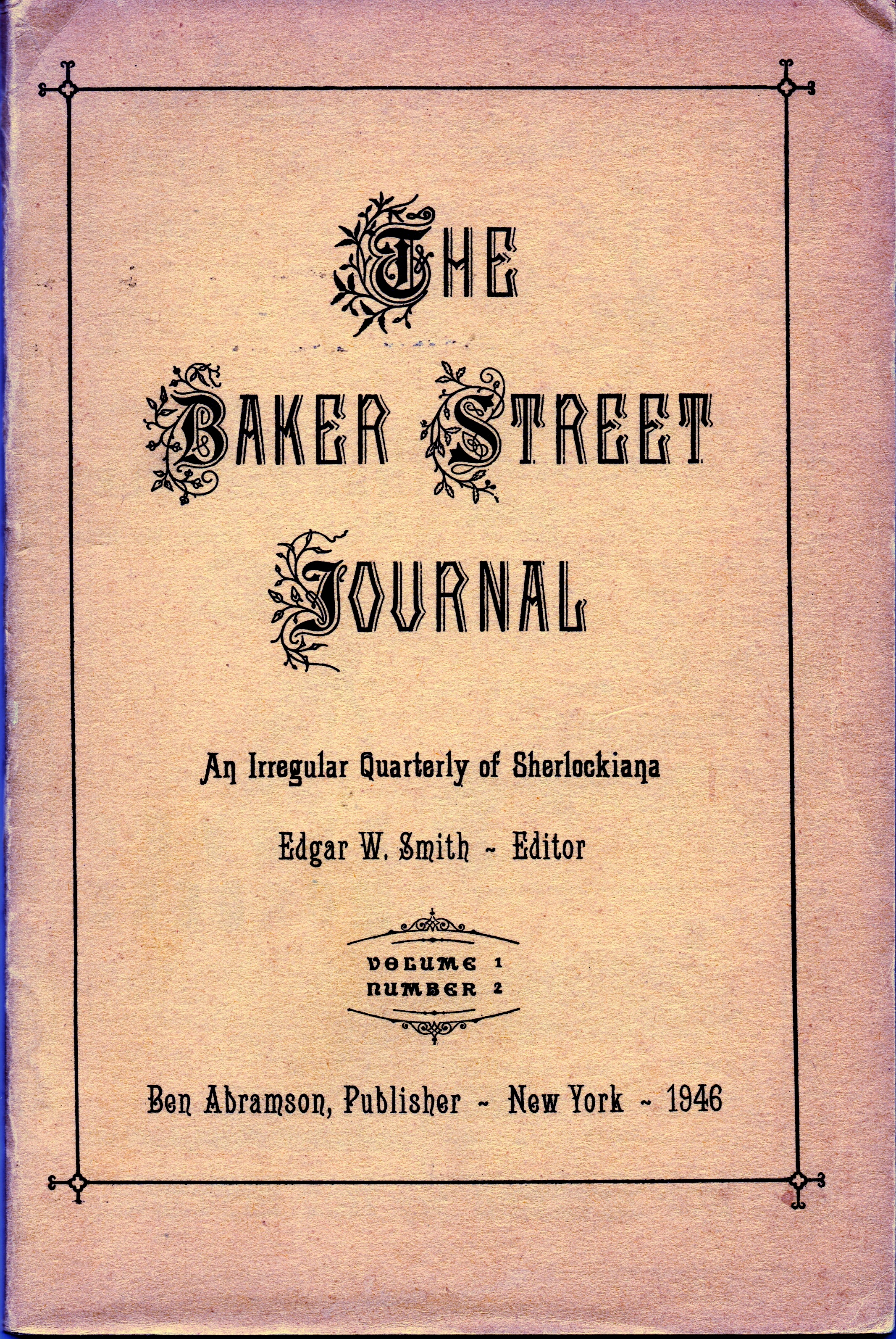 The Baker Street Journal from April 1946 which states that Dr. Cutter was an early member of Chicago's The Hounds of the Baskerville (sic).
