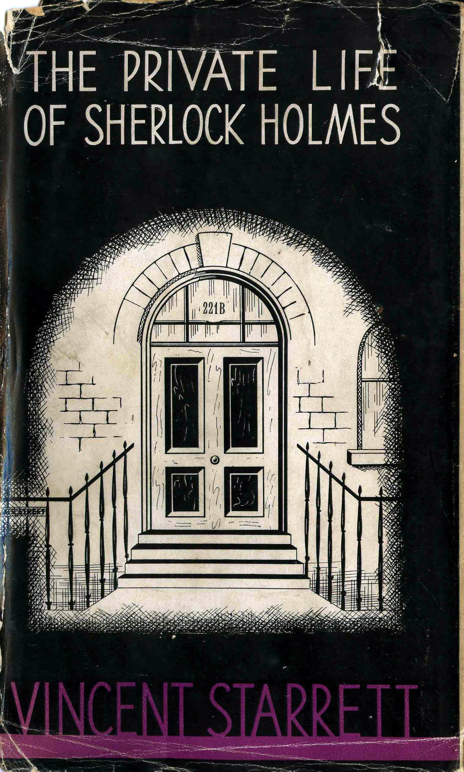 The British edition of  Private Life,  published in 1934, with its handsome depiction of the facade at 221B.