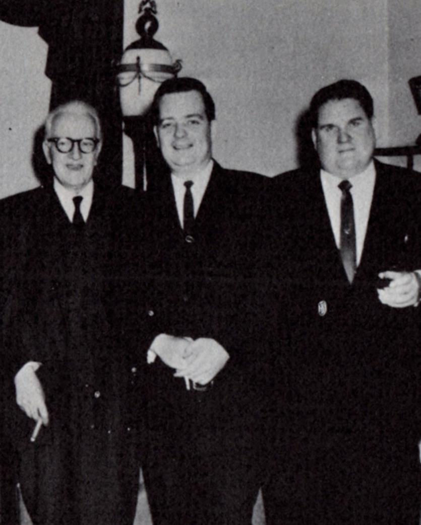 From left, Vincent Starrett, Robert Mangler and John Bennett Shaw. A 1964 photograph, from  The Last Bookman  edited by Peter Ruber and published in 1968 by The Candlelight Press.
