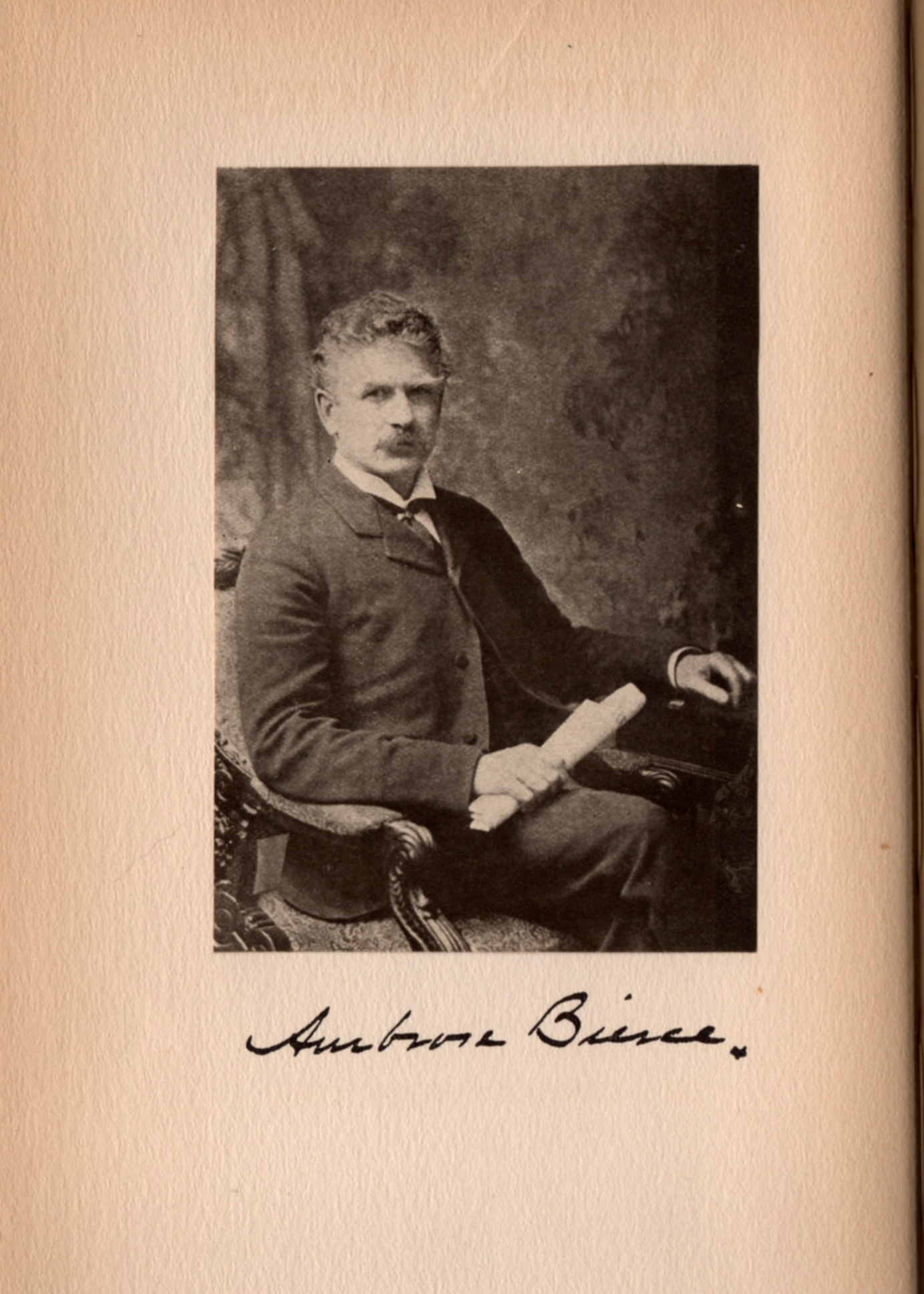 A portrait of Ambrose Bierce from Vincent Starrett's 1920 booklet of the same name.