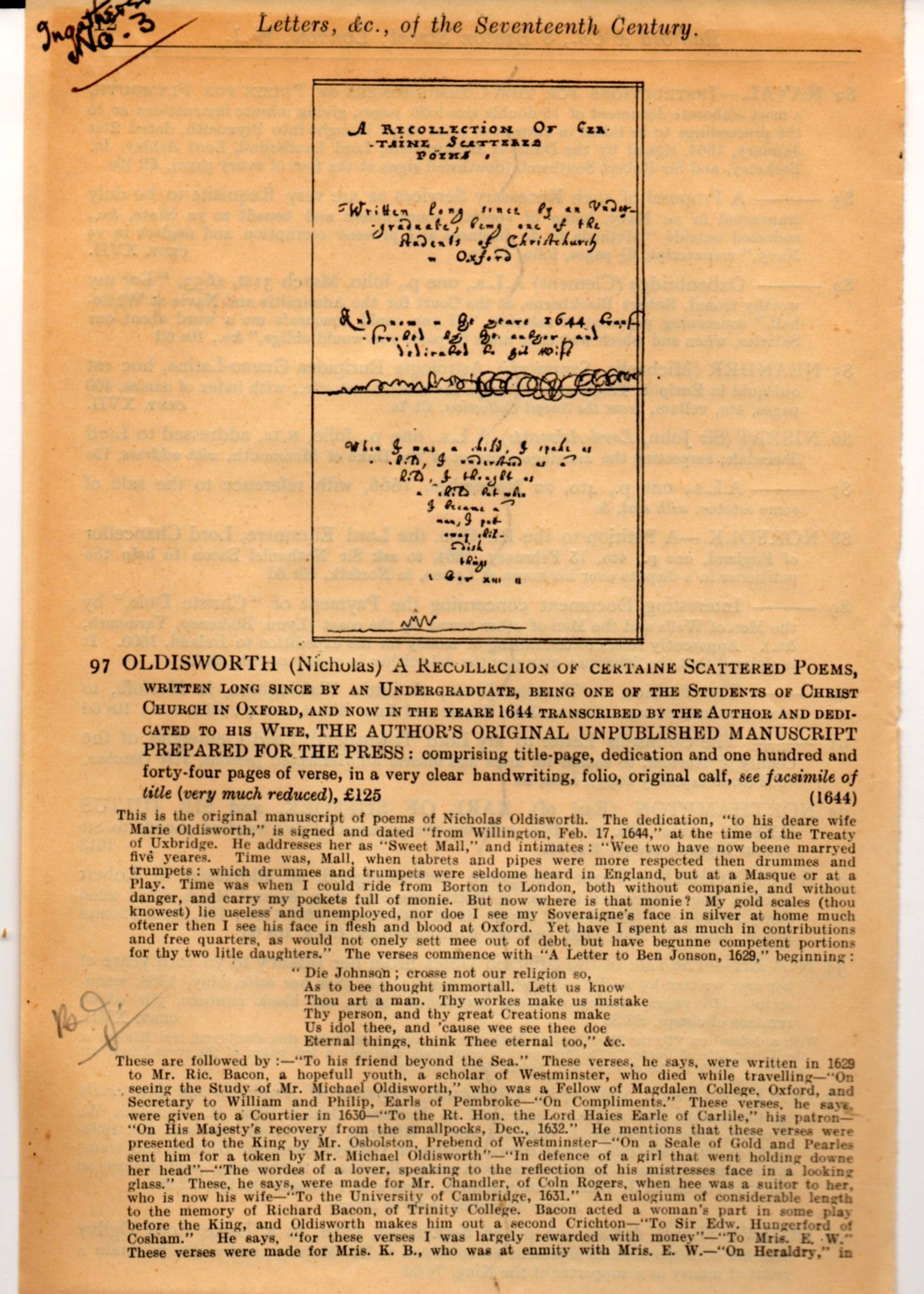 A last page from Thorp's catalogue.