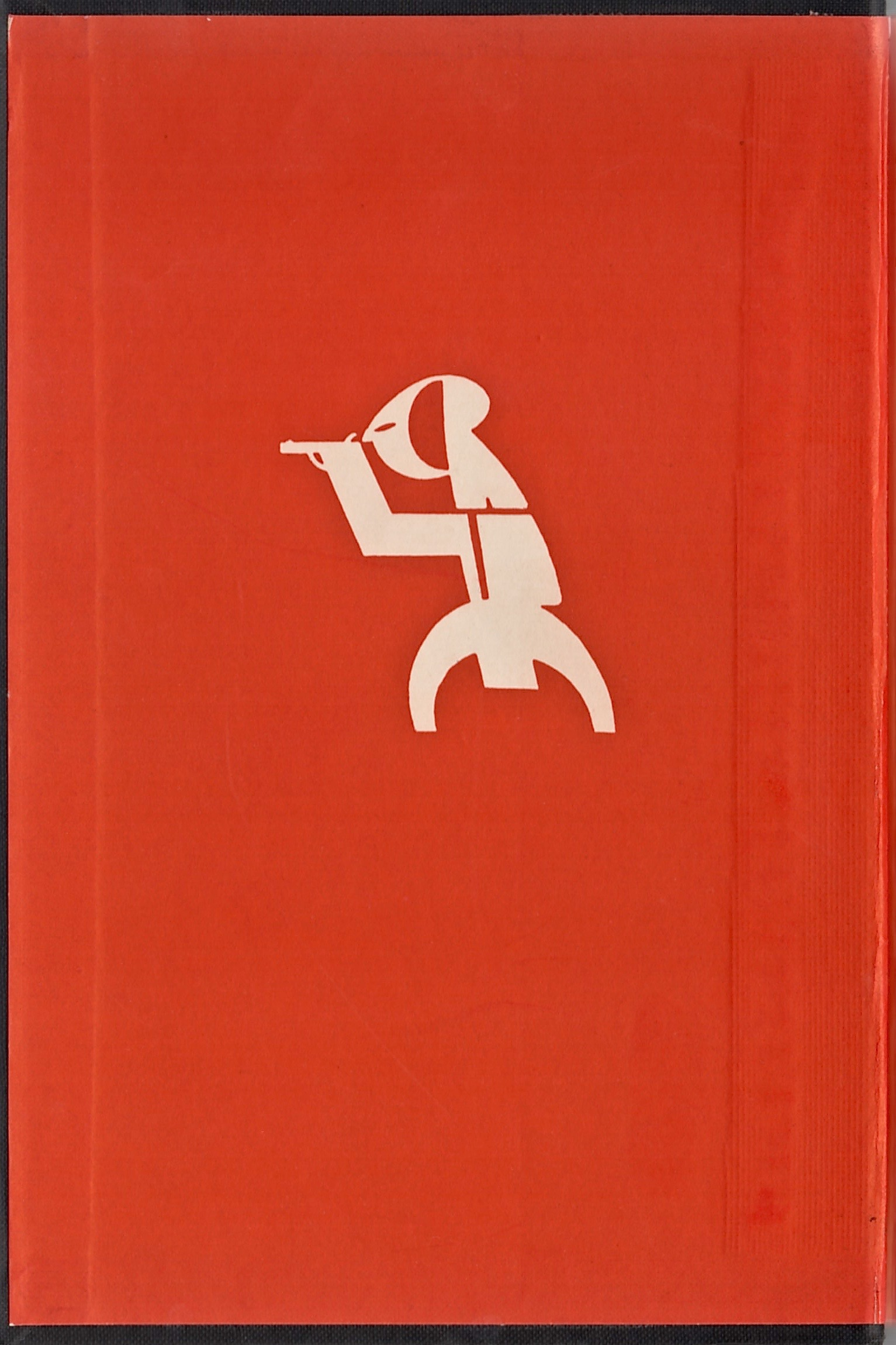The endpapers to Dead Man Inside feature the Crime Club logo, with the letters CRIME fit into a figure of a human firing a gun.