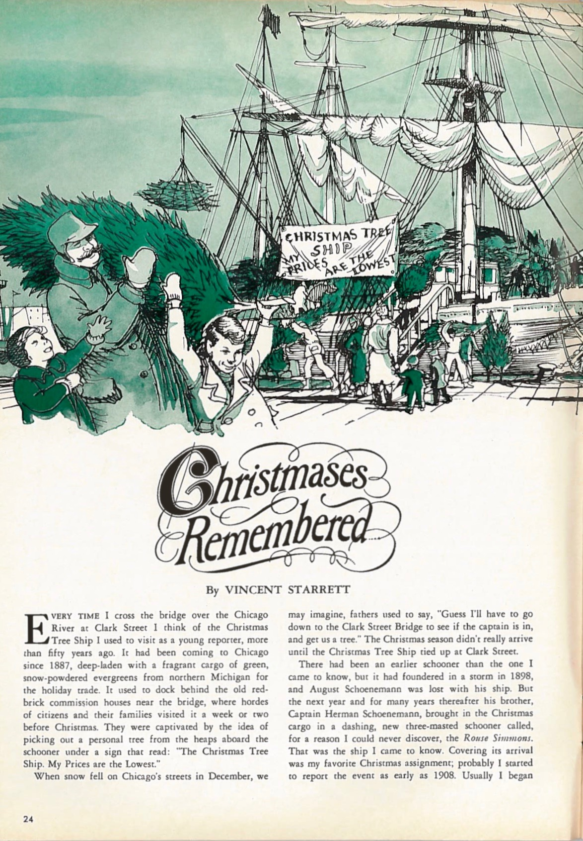 The opening page of Starrett's Christmas feature.