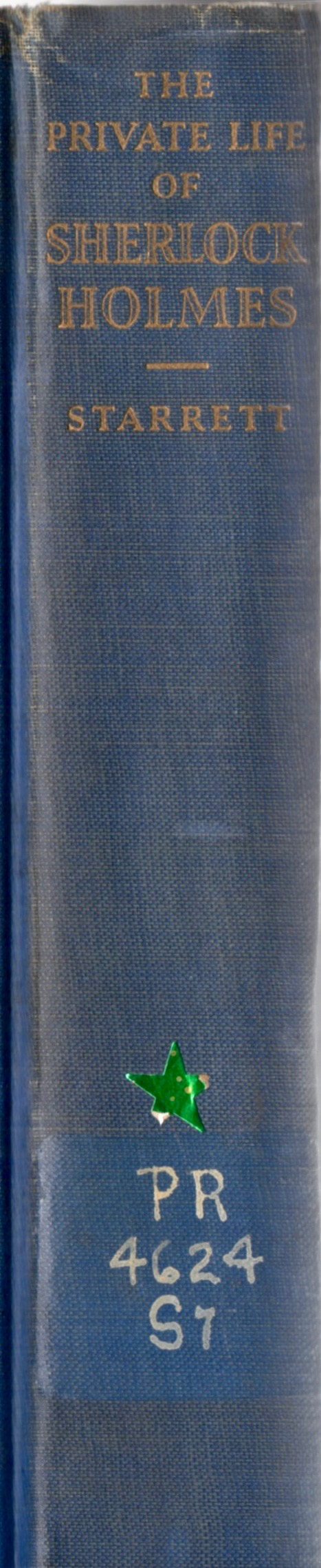 The spine to the copy of  Private Life  that was once in the Haverford College library.