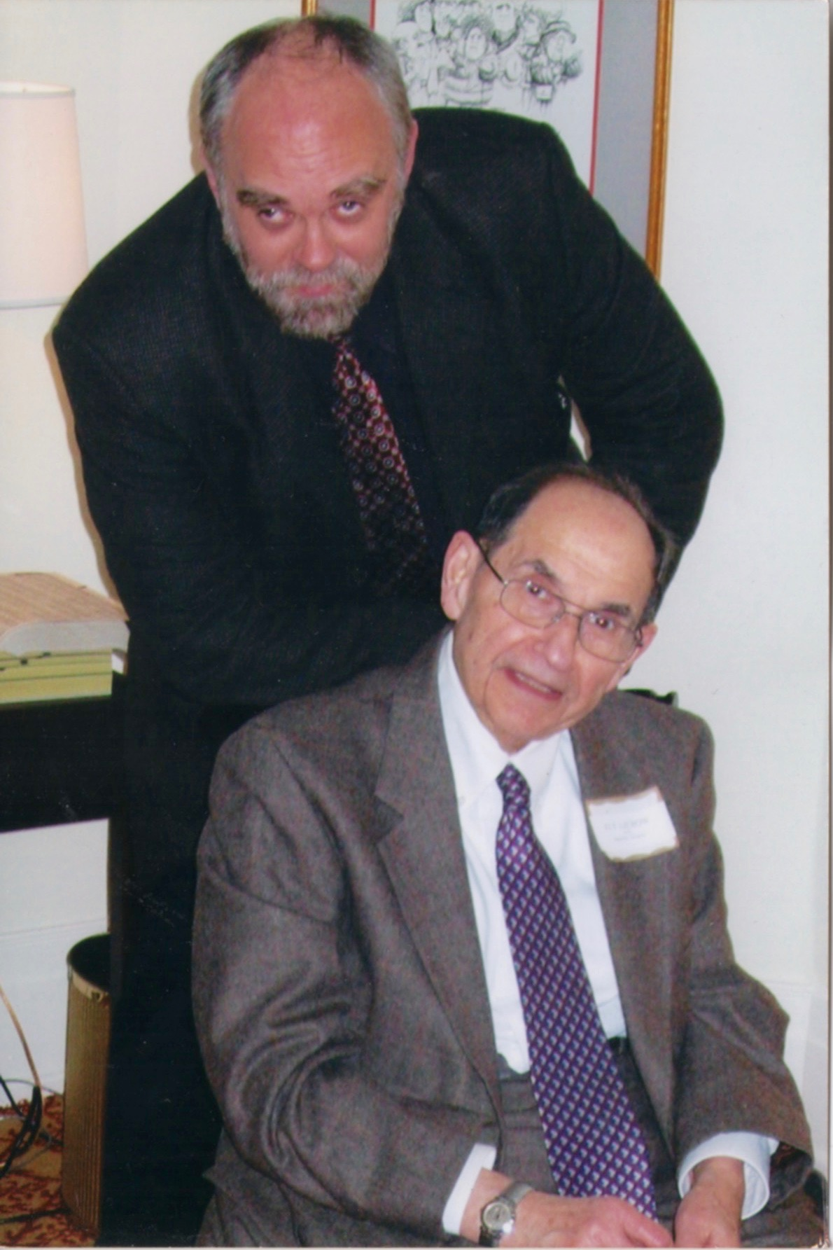 David Morrill and Ely Liebow in our Hotel Algonquin Room in the early 2000s.